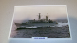 HMS Brave 1983 British warship framed picture